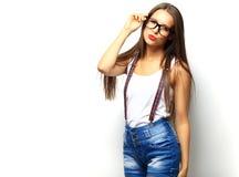 High fashion look.glamor stylish beautiful young woman model Royalty Free Stock Photos
