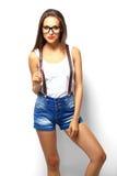 High fashion look.glamor stylish beautiful young woman model Stock Photos