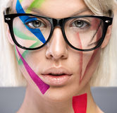 High fashion look with glasses Royalty Free Stock Photo