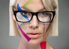 High fashion look, portrait with glasses Stock Photo