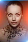 High-fashion Model Girl. Beauty Woman high fashion Vogue Style P Royalty Free Stock Photography