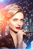 High-fashion Model Girl Beauty Woman high fashion Vogue Style Po Stock Photography