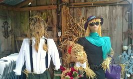 High Fashion Scarecrows Royalty Free Stock Image