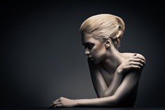 High fashion woman with abstract hair style Royalty Free Stock Image