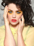 High Fashion Woman in Extreme Makeup Royalty Free Stock Photo