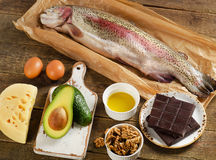High Fat Foods Stock Image