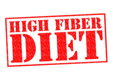 HIGH FIBER DIET. Red Rubber Stamp over a white background Stock Photos