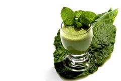 High fiber green drink Stock Photos