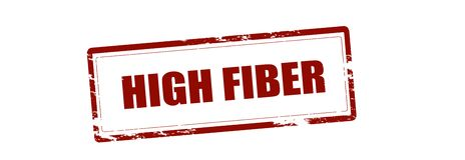 High fiber. Rubber stamp with text high fiber inside,  illustration Stock Images