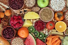 Free High Fibre Health Food Collection Stock Images - 166020874