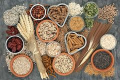 High Fibre Healthy Food royalty free stock photography