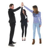 High five for the business Stock Photography