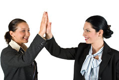 High five business woman Royalty Free Stock Photography