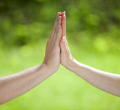 High five gesture Stock Photography