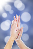 High five celebration Stock Photo