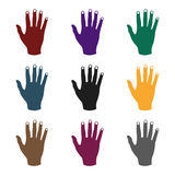 High five icon in black style isolated on white background. Hand gestures symbol stock vector illustration. High five icon in black style isolated on white Royalty Free Stock Photo