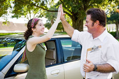 High Five - Ready to Drive Stock Photo