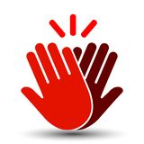 High Five Red Icon – vector vector illustration