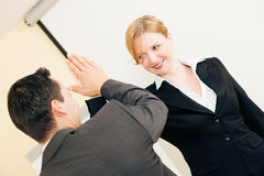High Five for success in Business Stock Photography