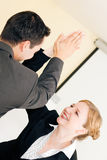 High Five for success in Business stock photo
