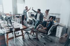 High-five for success! Royalty Free Stock Photo
