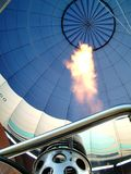High flame. Flame of hot air balloon Royalty Free Stock Photos
