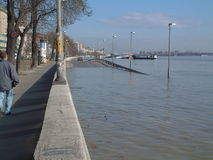 High flood in Budapest Stock Image