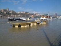 High flood in Budapest Royalty Free Stock Photography
