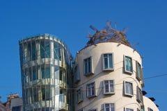 High floors of Dancing House landmark of Prague Czech Republic Stock Photos