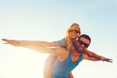 High flying romance. Royalty Free Stock Image