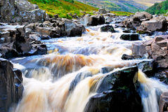 High Force. Rapids of the waterfall 'High Force' in county Durham, UK Royalty Free Stock Images