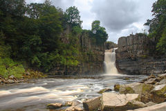 High Force waterfall County Durham stock photography