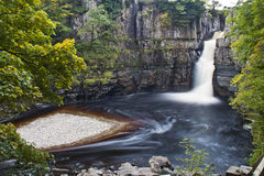 High Force waterfall stock image