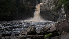 High Force Waterfall. This is High Force waterfall, in Teesdale, County Durham Royalty Free Stock Photo