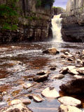 High force. Waterfall in Weardale North East England royalty free stock photography