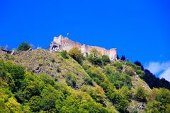 High Fortress of Poenari Royalty Free Stock Photography