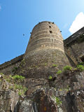 High fortress tower. To the sky Stock Photo