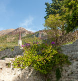 The high fortress walls, Stari Bar, Montenegro Stock Image