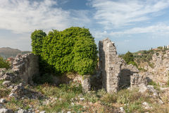 The high fortress walls, Stari Bar, Montenegro Stock Photo