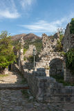 The high fortress walls, Stari Bar, Montenegro Royalty Free Stock Images