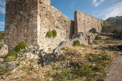 The high fortress walls, Stari Bar, Montenegro Stock Images