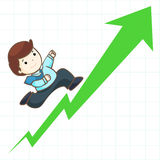 High frofit stock graph  Royalty Free Stock Images