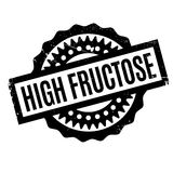 High Fructose rubber stamp. Grunge design with dust scratches. Effects can be easily removed for a clean, crisp look. Color is easily changed Stock Images