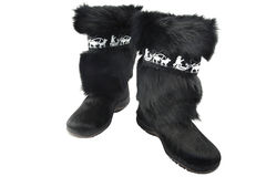 High fur boots Royalty Free Stock Image
