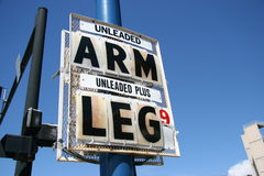 High Gas Price, Arm and Leg Stock Images