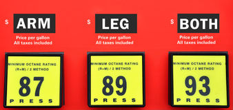 High gas prices Stock Photo