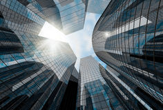 High glass skyscrapers Royalty Free Stock Photos