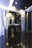 High gloss modern bathroom Stock Photos