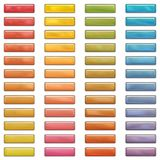 High gloss web buttons in bright colors Royalty Free Stock Photography