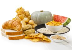 High Glycaemic Index Foods stock image